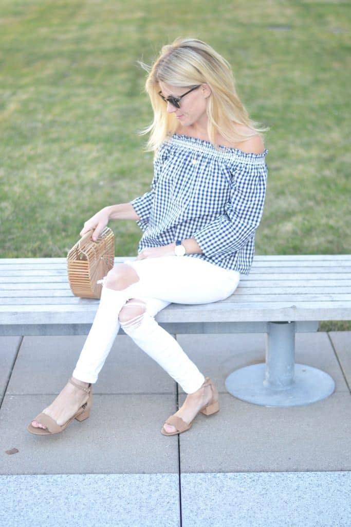 Gingham Fashion All Day by fashion blogger Liz of Pure Joy Home