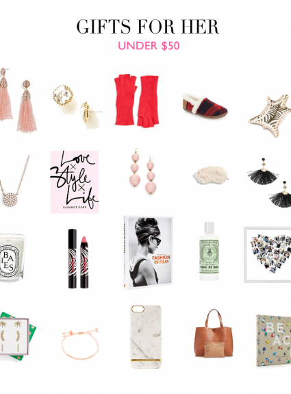GIFT GUIDE FOR HER (UNDER $50)