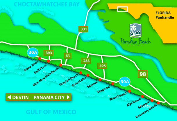 30a Map Of Towns.Our 30a Trip Recap A Travel Guide Pure Joy Home