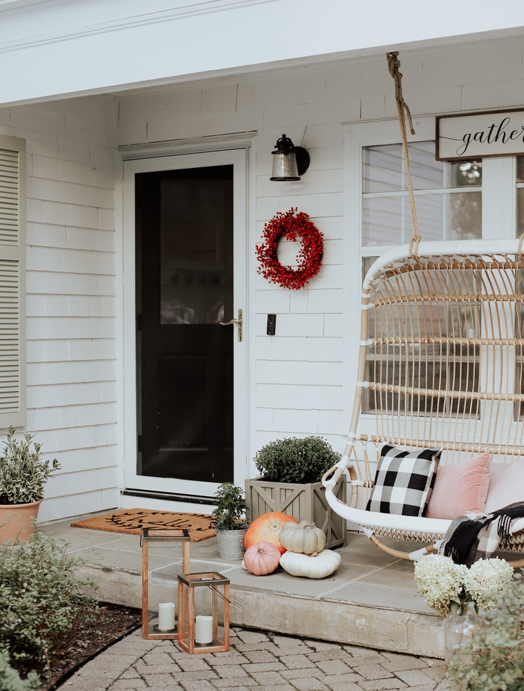 Decorating our Front Porch for Fall!