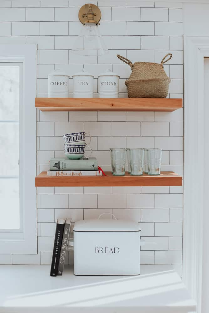 Our 2020 Kitchen Shelves